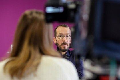 Echenique rechaza que Errejón siga siendo el candidato de Podemos y asegura que