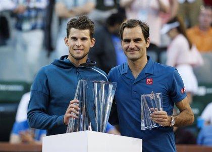El austriaco Thiem frena a Federer y estrena en Indian Wells su palmarés en Masters 1.000