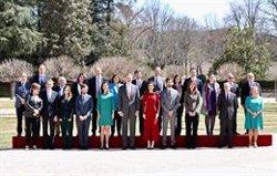 Los Reyes se reúnen con los 20 científicos españoles de más éxito en El Pardo