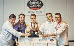 Diego Bello del Hotel Attica 21 de A Coruña, ganador del primer Certamen Estrella Galicia de Cocina Atlántica