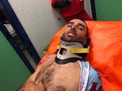 Dani Navarro se fractura la clavícula y tres costillas en una caída en la cuarta etapa del Giro