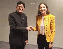 España e India acuerdan colaborar en proyectos ferroviarios, navales, sanitarios y turísticos