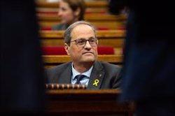 Torra comparece este jueves en el Parlament en el primer pleno tras finalizar el juicio