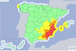 La DANA mantendrá en riesgo máximo al mediterráneo mañana y dejará lluvias fuertes el sábado en el centro peninsular
