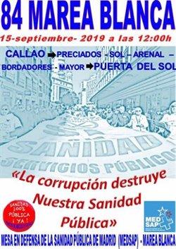 La Marea Blanca recorre este domingo las calles de Madrid en defensa de la sanidad pública