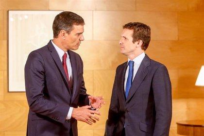 Sánchez se queja de que Casado rechaza permitir un Gobierno estable y evitar la repetición electoral