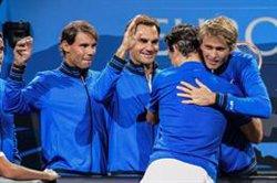 Federer y Zverev refuerzan la ventaja de Europa en la apertura de la Laver Cup