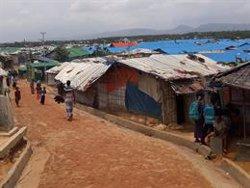 Una pareja de rohingyas muertos en un tiroteo con la Policía cerca de un campo de refugiados en Bangladesh