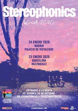 Stereophonics presentarán nuevo disco en Madrid y Barcelona