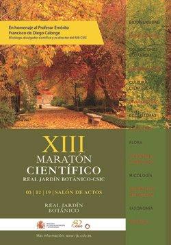 El Real Jardín Botánico celebra mañana la XIII edición del Maratón científico con 40 charlas sobre el mundo vegetal