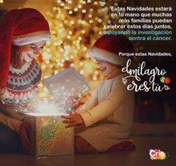 Cris Contra el Cáncer lanza la campaña navideña '#ElMilagroEresTú' para concienciar sobre la lucha contra el cáncer