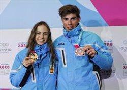 María Costa y Ot Ferrer, oro y bronce en la prueba sprint de esquí de montaña de Juegos Olímpicos de la Juventud