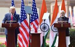 Trump anuncia que India comprará a EEUU material de defensa por valor de más de 3.000 millones de dólares