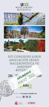 Aplazado el XVI Congreso de la Asociación Ibero Macaronésica de Jardines Botánicos a 2021