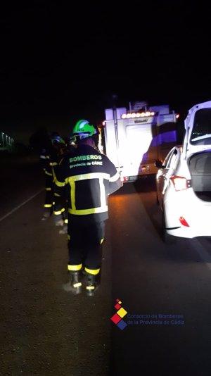 Fallece una menor tras un accidente de circulación en la CA-603 en dirección a la Base de Rota (Cádiz)
