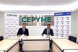 Cepyme y Aenor firman un acuerdo de colaboración para impulsar a las pymes españolas