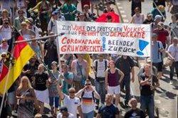 La Policía expulsa a los organizadores de una protesta en Berlín contra las medidas de restricción