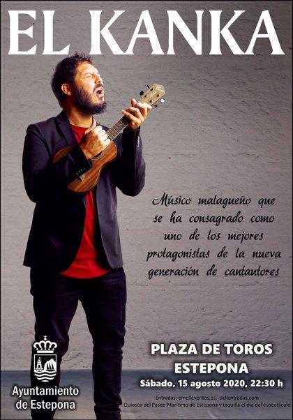 El Kanka ofrecerá un concierto íntimo en la plaza de toros de Estepona (Málaga)