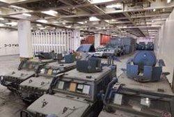 Llegan al Puerto de Castellón desde Irak vehículos y material militar participante en la Operación 'Inherent Resolve'