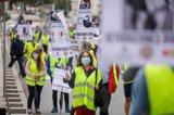 Unos 200 militares se manifiestan en Madrid para exigir retribuciones