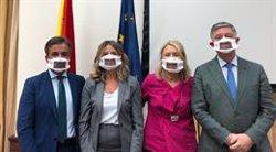 El PP acude a la Comisión de Discapacidad del Congreso con mascarillas que permiten la lectura de labios