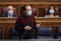 Vox quiere que Iglesias aclare al Congreso si su augurio de que el PP no volverá a gobernar es un deseo o una amenaza