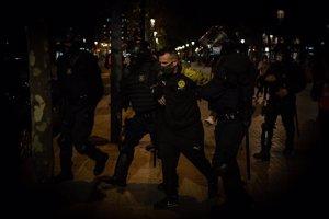 La protesta de los CDR en Barcelona en el tercer aniversario del 1-O acaba con 15 detenidos