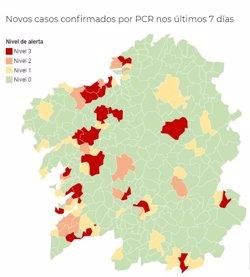 Ocho municipios gallegos más en alerta roja este miércoles, entre ellos Lugo, Pontevedra, A Estrada y Oleiros
