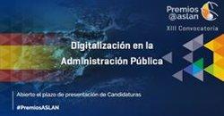 ASLAN abre la convocatoria a sus premios a las mejores prácticas de digitalización en la Administración Pública