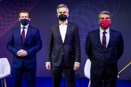 Rifirrafes entre Laporta, Font y Freixa marcan el primer debate entre los candidatos