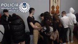 La Policía Municipal de Madrid detecta 191 fiestas ilegales esta pasada noche en la capital