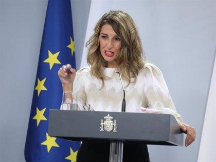 Yolanda Díaz lamenta que el departamento de Carmen Calvo