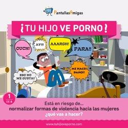 PantallasAmigas advierte a las familias de los peligros del consumo de porno en menores y jóvenes y les insta a actuar
