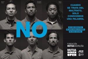 Los tenistas del Mutua Madrid Open dicen 'no' al maltrato