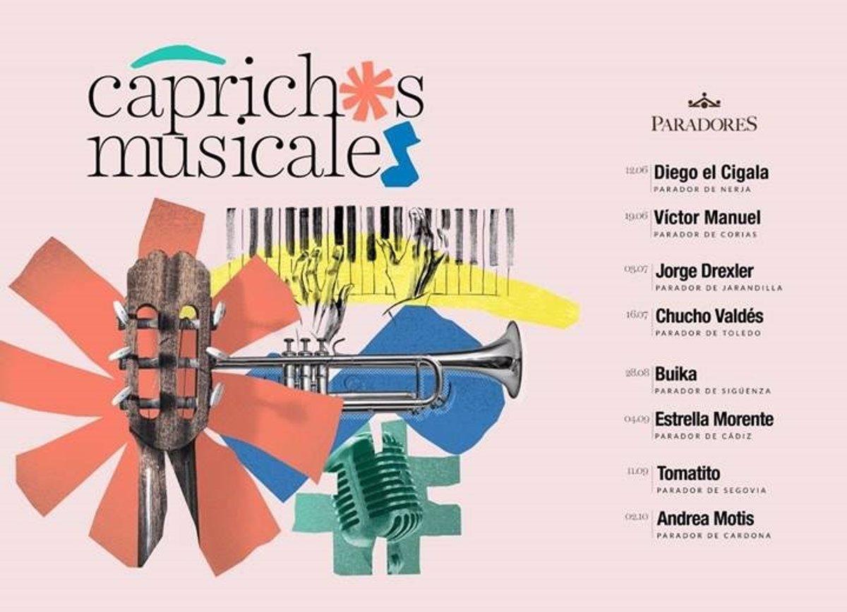 Paradores anuncia los Caprichos Musicales del verano de 2021 - Descubrir