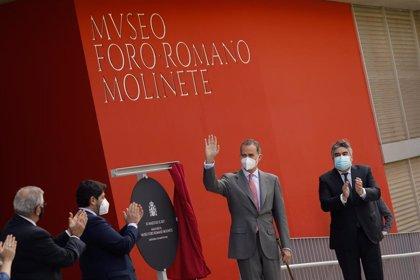 El Rey inaugura el Museo Foro Romano Molinete de Cartagena, que ofrece una inmersión en 2.300 años de historia