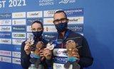 Pau Ribes y Emma García logran la plata europea en el Dúo Libre Mixto de natación artística