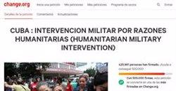 Más de 420.000 personas firman a favor de una intervención militar de EEUU en Cuba