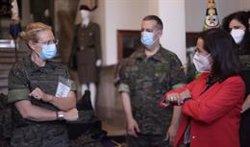 Las mujeres militares dispondrán desde septiembre de un nuevo chaleco antifragmentos adaptado a la fisonomía femenina