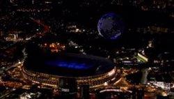 Un planeta Tierra de más de 1800 drones ilumina el cielo de Tokyo 2020