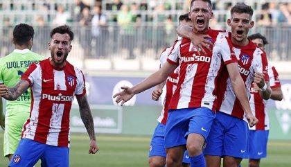 El canterano Borja Garcés lidera la remontada del Atlético en el amistoso contra el Wolfsburgo