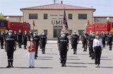 Margarita Robles visita la base de la UME en Zaragoza y resalta el trabajo de las Fuerzas Armadas