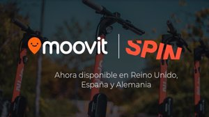 Spin se integra en Moovit para ofrecer una alternativa de movilidad eléctrica a sus usuarios