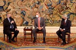 Cámara de España y el Consejo de Economistas trasladan al Rey la importancia de la estabilidad institucional