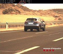Denuncian a una conductora por presuntamente ir a 215 kilómetros por hora en la A-22 en Lleida