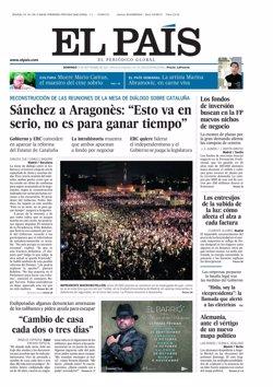 Primeras páginas de los diarios llegados esta noche a nuestra redacción
