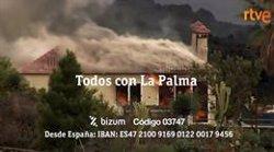 RTVE lanza la campaña solidaria 'Todos con La Palma' para apoyar a los damnificados por el volcán